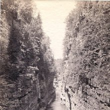 Image of 1977.218.1775 - 397. Au Sable Chasm. The Grand Flume from Above