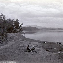 Image of 1977.218.2447 - 572. Schroon Lake, north from dock Taylor House