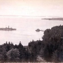 Image of 1977.218.2500 - Southeast from Hotel Champlain, Bluff Point