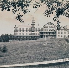 Image of 1977.218.2774 - 695. Mirror Lake House from North, Lake Placid