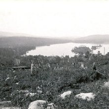 Image of 1977.218.2909 - 712. Blue Mountain Lake from Mountain House