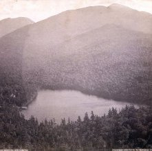 Image of 1977.218.0301 - 64. Clear Lake from Mount Jo, Adirondacks