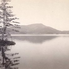 Image of 1977.218.3063 - 719. Blue Mountain Lake from the West