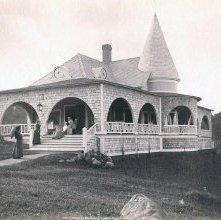 Image of 1977.218.3084 - 722. Cottage at Wawbeek Lodge, Upper Saranac Lake