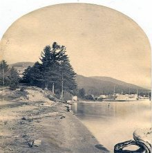 Image of 1977.218.3357 - 749. Beach, east of Fort William Henry, Lake George