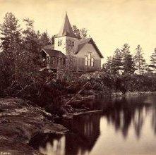 Image of 1977.218.3520 - 790. Island Church, Raquette Lake