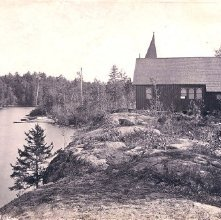 Image of 1977.218.3548 - 793. Island Church, Raquette Lake