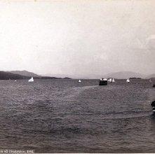 Image of 1977.218.3944 - 856. Lake George, A.C.A. Regatta off Crosbyside, 1882