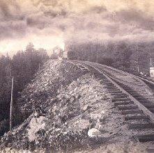 Image of 1977.218.4818 - 1121. Willsborough Bay from north, N.Y. & C.R.R.