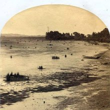 Image of 1977.218.5250 - 1504. Low Tide at Catskill, Hudson River