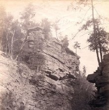 Image of 1977.218.5402 - Ausable Chasm, Pulpit Rock