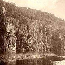 Image of 1977.218.5440 - Palisades of Lake Champlain