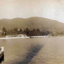Image of 1977.218.5772 - Steamboat Dock at Lake George