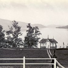 Image of 1977.218.0813 - 176. Schroon Lake - South from Leland House.