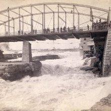 Image of 1977.052.0195 - 545. Glens Falls, N. Y. Bridge from below.
