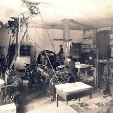 Image of 1977.066.0003 - Interior of Unknown Print Shop