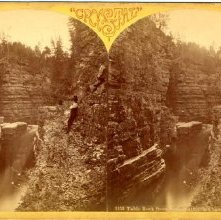 Image of 1980.009.0028 - 1153. Table Rock from below, Ausable Chasm