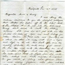 Image of 1983.030.0122 - Letter