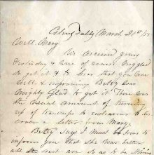 Image of 1983.030.0130 - Letter