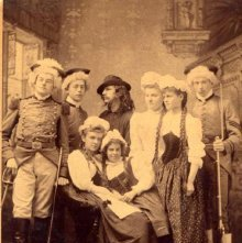 Image of 1988.006.0001 - Actors of a play, Glens Falls Academy