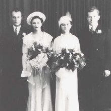 Image of 2005.022.0002 - The Marriage of Rose Goldman to Milton Aronson, 1936