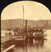 Image of 2011.005.0013d - 989.  Lillie M. Price at Lake House Dock, Lake George