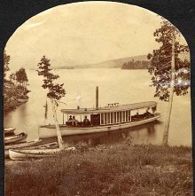 Image of 2011.005.0013f - 1303. Steamer Julia, West from Hundred Island House, Lake George