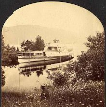 Image of 2011.005.0013h - Minne-ha-ha on Lake George at Black Mountain Point.