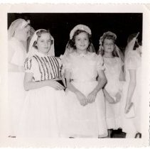 Image of Janice Josselyn with other communicants - 2015.0001.015