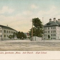 Image of Codman Square, 2nd Church. High School                                                                                                                                                                                                                         - 2007.0060.008