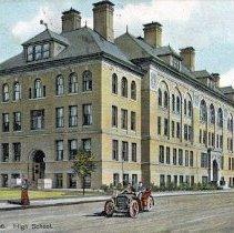 Image of Dorchester, Mass. High School.                                                                                                                                                                                                                                 - 2007.0060.020