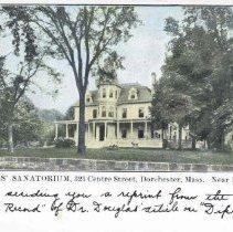 Image of Dr. Douglas' Sanatorium 321 Centre Street                                                                                                                                                                                                                      - 2007.0060.021