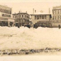 Image of Peabody Square, Ashmont, Mass, blizzard 1920, No. 2 - 2007.0060.045