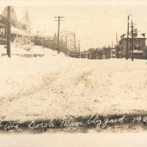 Image of Peabody Square, Ashmont, Mass, blizzard 1920, No. 3 - 2007.0060.046