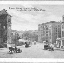 Image of Pierce Square looking South, Dorchester Lower Mills, Mass.                                                                                                                                                                                             - 2007.0060.078