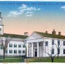 Image of First Parish Church and Lyceum Hall, Meeting House Hill, Dorchester, Mass. - 2007.0060.085