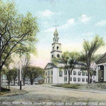 Image of Dorchester, Mass. First Parish Church and Lyceum Hall, Meeting House Hill - 2007.0060.101