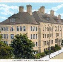 Image of High School for Girls, Dorchester, Mass.                                                                                                                                                                                                                   - 2007.0060.105