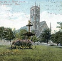 Image of Lyman Memorial and St. Peter's Church. Eaton Sq. Dorchester, Mass - 2007.0060.107