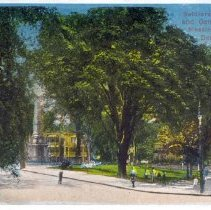 Image of Soldiers' Monument and General View of Meeting House Hill, Dorchester, Mass - 2007.0060.109