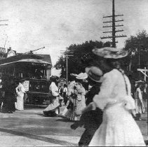 Image of 1200.01.03 - Trolley from Winchester to Boston, c. 1910