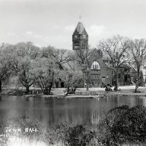 Image of 1200.01.50 - Winchester Town Hall and Mill Pond, Winchester, Mass.