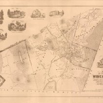 Image of 1300.01 - Map of the Town of Winchester, Middlesex County, Mass. 1854