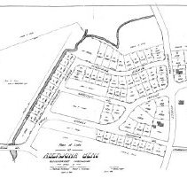 Image of 1300.08 - Plan of lots at Aberjona Bend, Winchester Highlands, owned by Moses P. Richardson, Mathilda Richardson, James H. Richardson, Roswell C. Richardson.