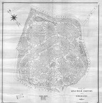Image of Plan of Wild wood Cemetery in Winchester