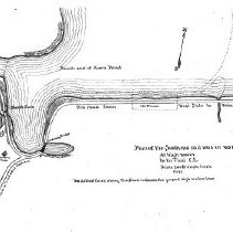 Image of 1300.05 - Plan of the South end [Horn Pond] as it was in 1837, at high water. M.M. Tidd, Civil Engineer.