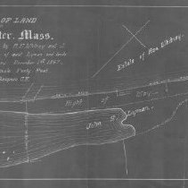 Image of 1300.69 - Plan of land in Winchester, Mass. showing line established by A.E. Whitney and J.S. Lyman between lands of said Lyman and lands of estate of Asa Whit