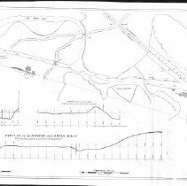 Image of 1300.74 - Plan of Boston and Lowell Railroad in Woburn from Johnsons to Cutters  by S.J. Wilder. June 17, 1834.