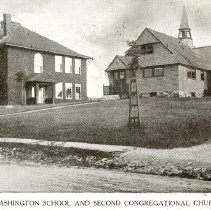 Image of 2002.14.73 - Washington School and Second Congregational Church, Winchester, Mass.