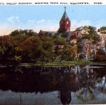Image of 2011.11.01 - View From Mystic Valley Parkway, Showing Town Hall,  Winchester, Mass.